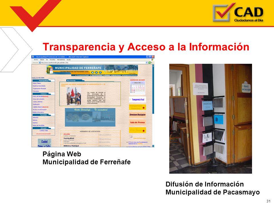 Transparencia y Acceso a la Información