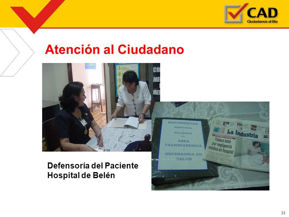 Atención al Ciudadano Defensoría del Paciente Hospital de Belén