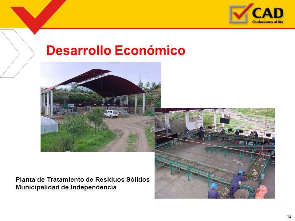 Desarrollo Económico Planta de Tratamiento de Residuos Sólidos