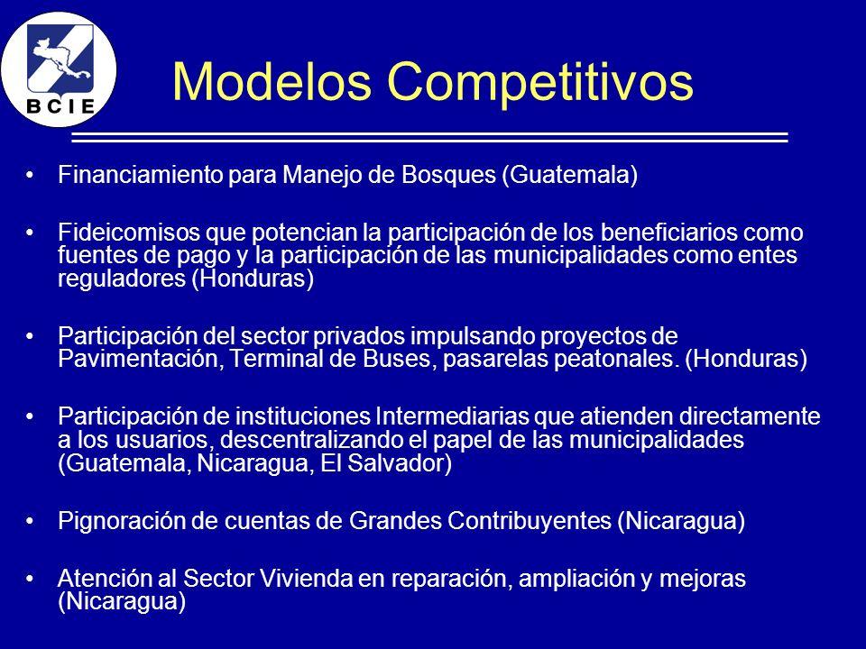 Modelos Competitivos Financiamiento para Manejo de Bosques (Guatemala)