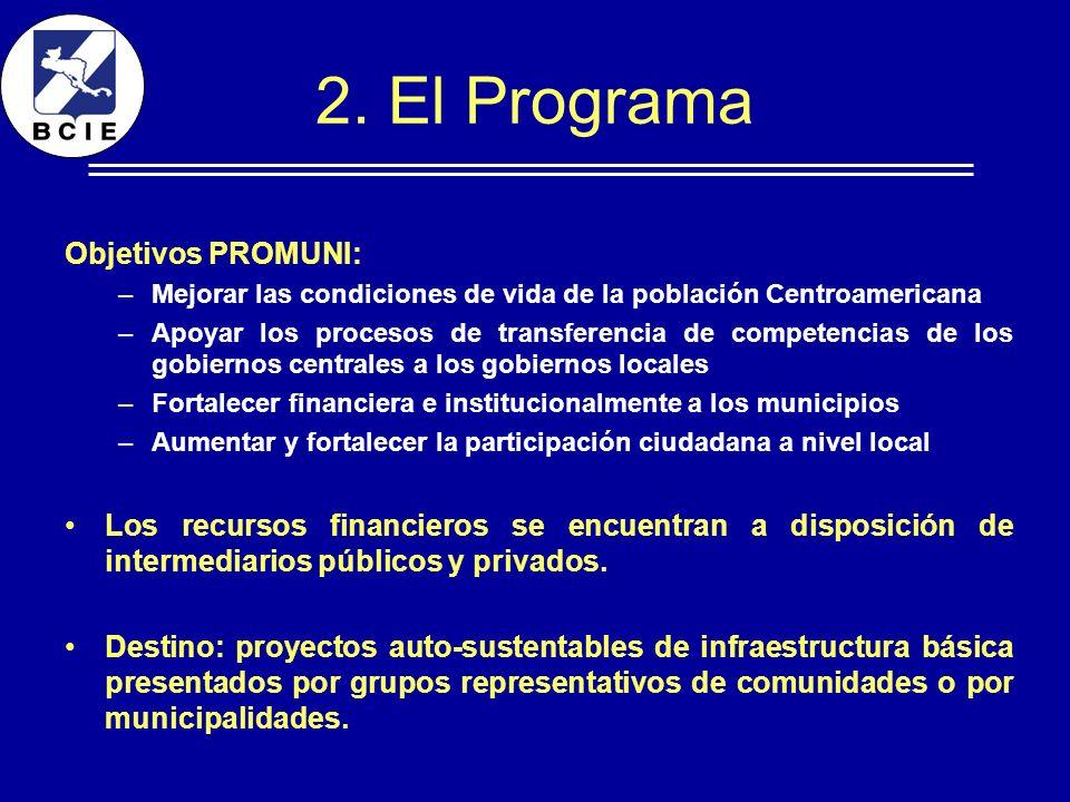 2. El Programa Objetivos PROMUNI: