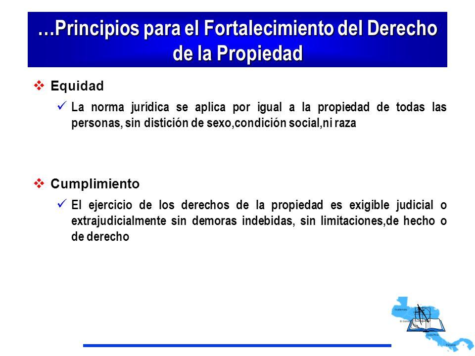 …Principios para el Fortalecimiento del Derecho de la Propiedad