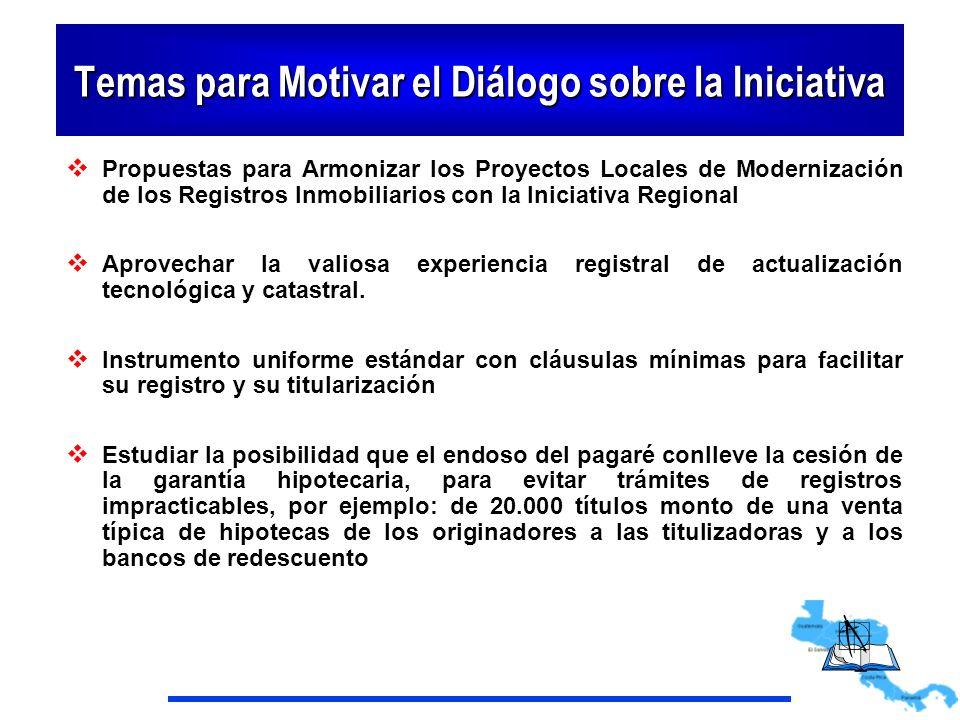 Temas para Motivar el Diálogo sobre la Iniciativa
