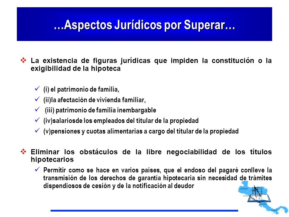 …Aspectos Jurídicos por Superar…
