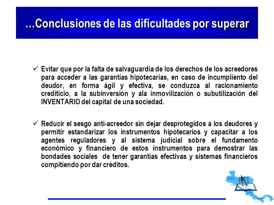 …Conclusiones de las dificultades por superar