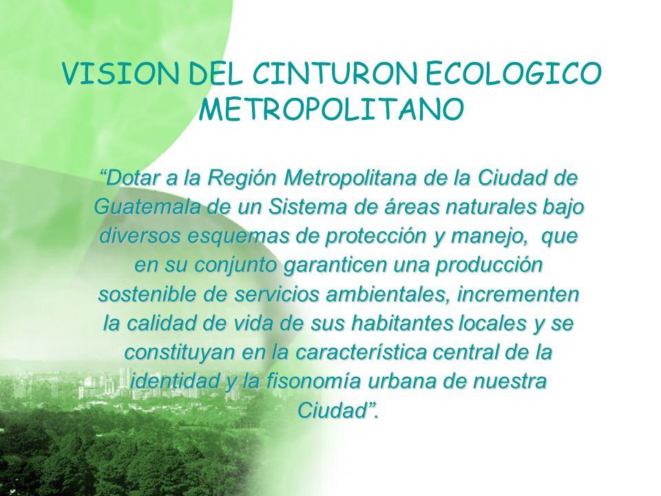 VISION DEL CINTURON ECOLOGICO METROPOLITANO