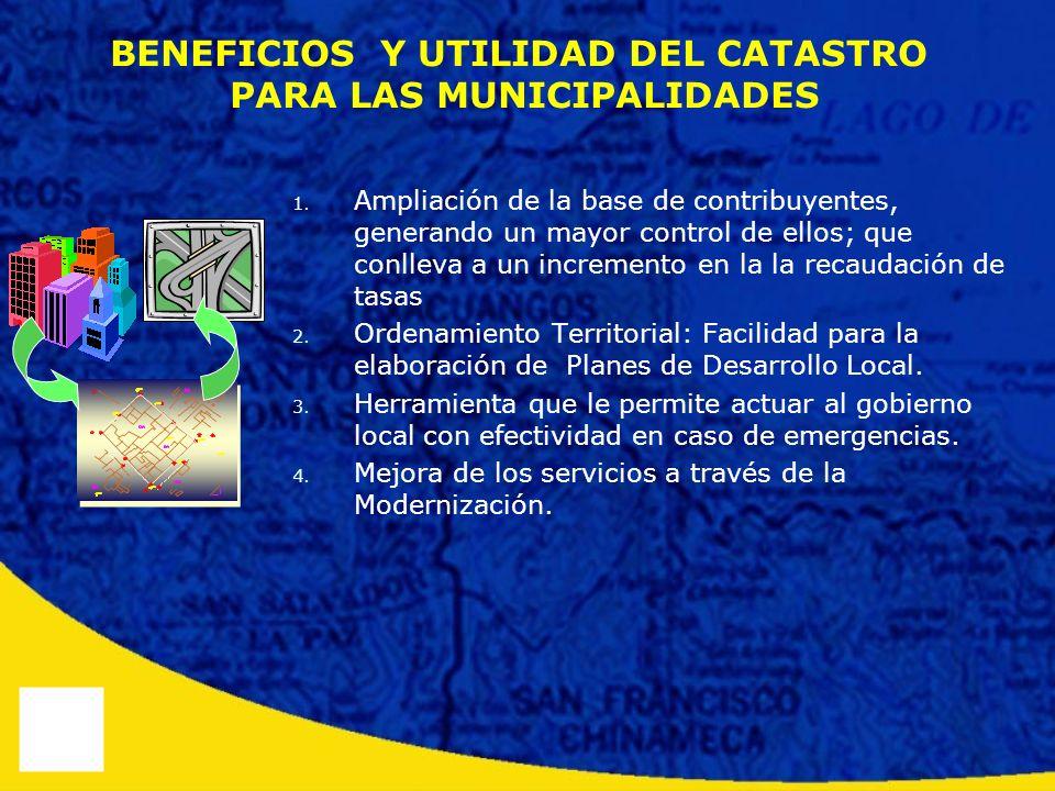 BENEFICIOS Y UTILIDAD DEL CATASTRO PARA LAS MUNICIPALIDADES