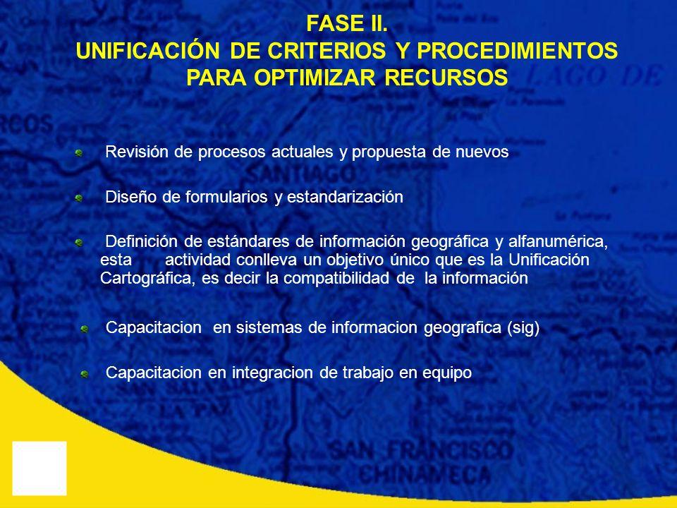 UNIFICACIÓN DE CRITERIOS Y PROCEDIMIENTOS PARA OPTIMIZAR RECURSOS