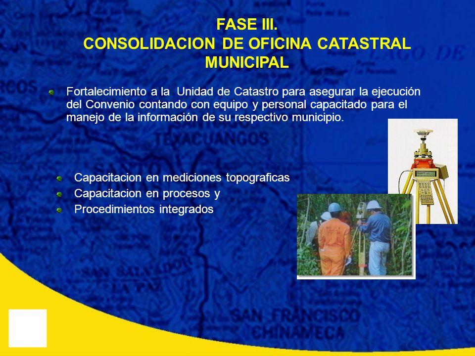 CONSOLIDACION DE OFICINA CATASTRAL MUNICIPAL
