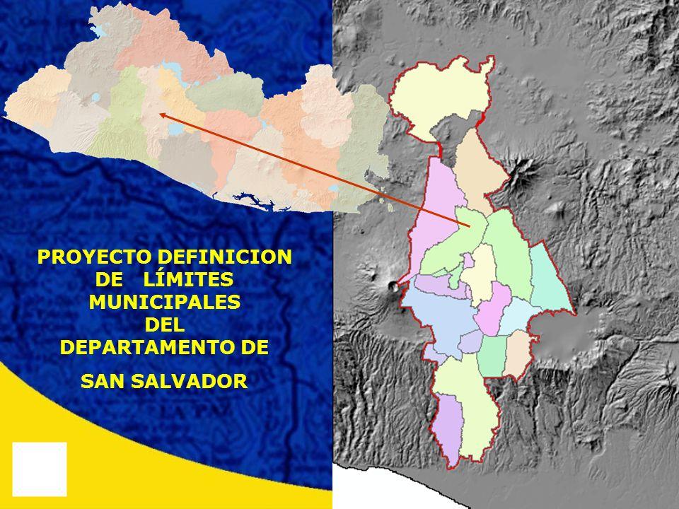 PROYECTO DEFINICION DE LÍMITES MUNICIPALES DEL DEPARTAMENTO DE