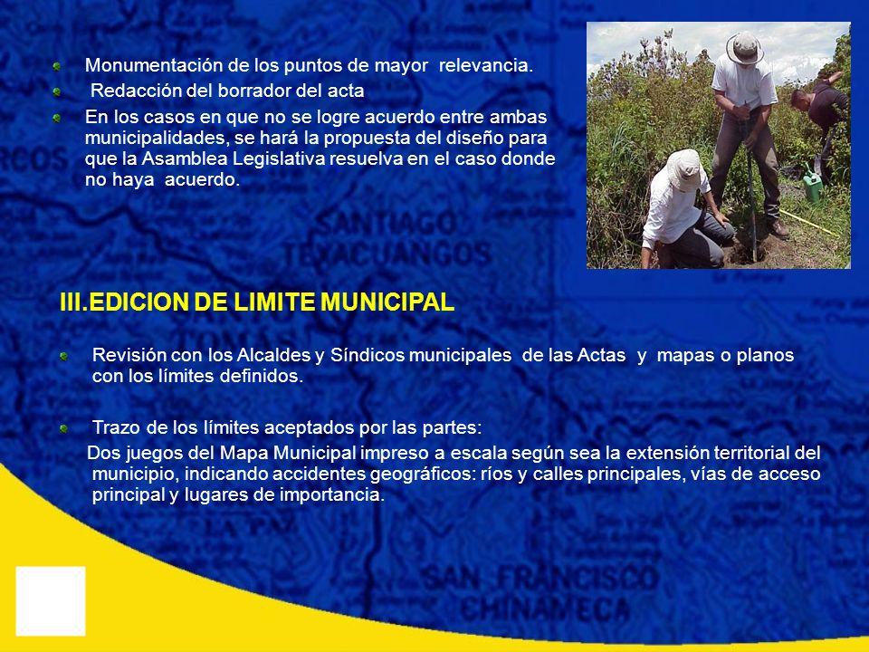 III.EDICION DE LIMITE MUNICIPAL