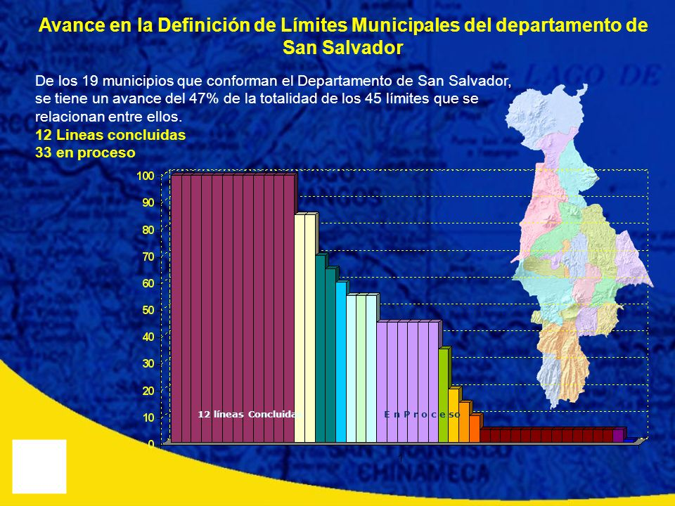 Avance en la Definición de Límites Municipales del departamento de San Salvador