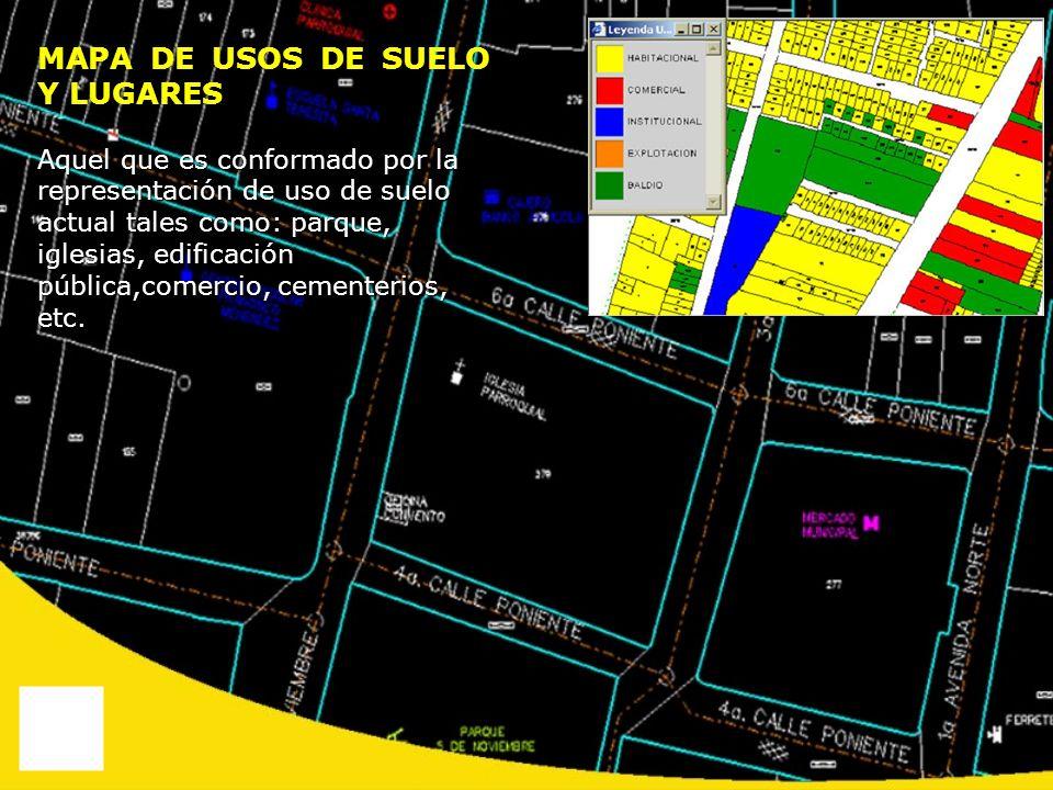 MAPA DE USOS DE SUELO Y LUGARES