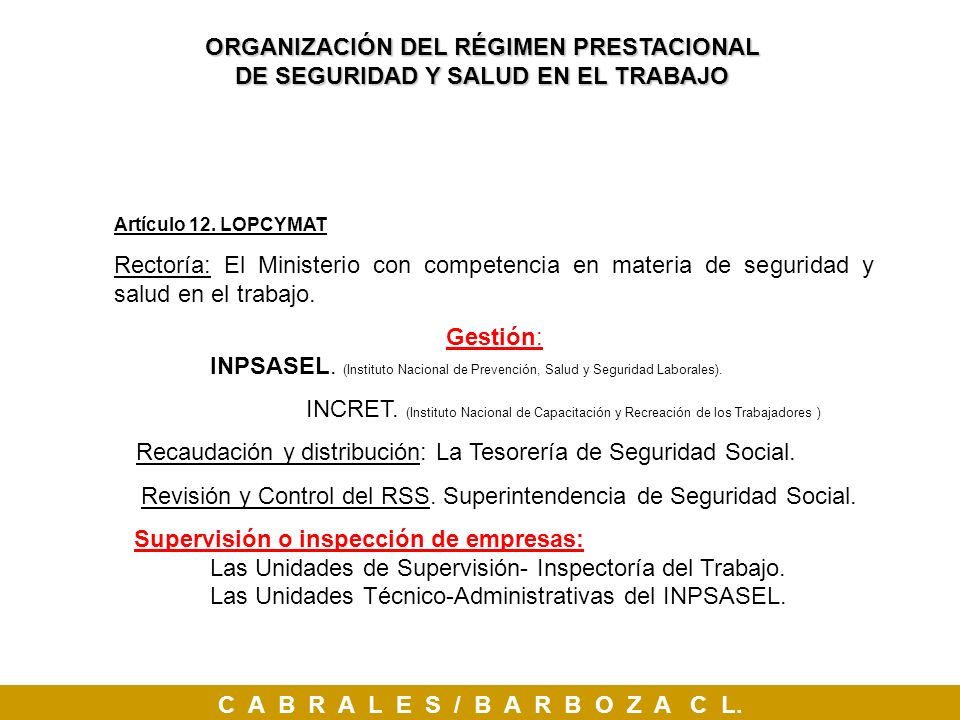 Revisión y Control del RSS. Superintendencia de Seguridad Social.