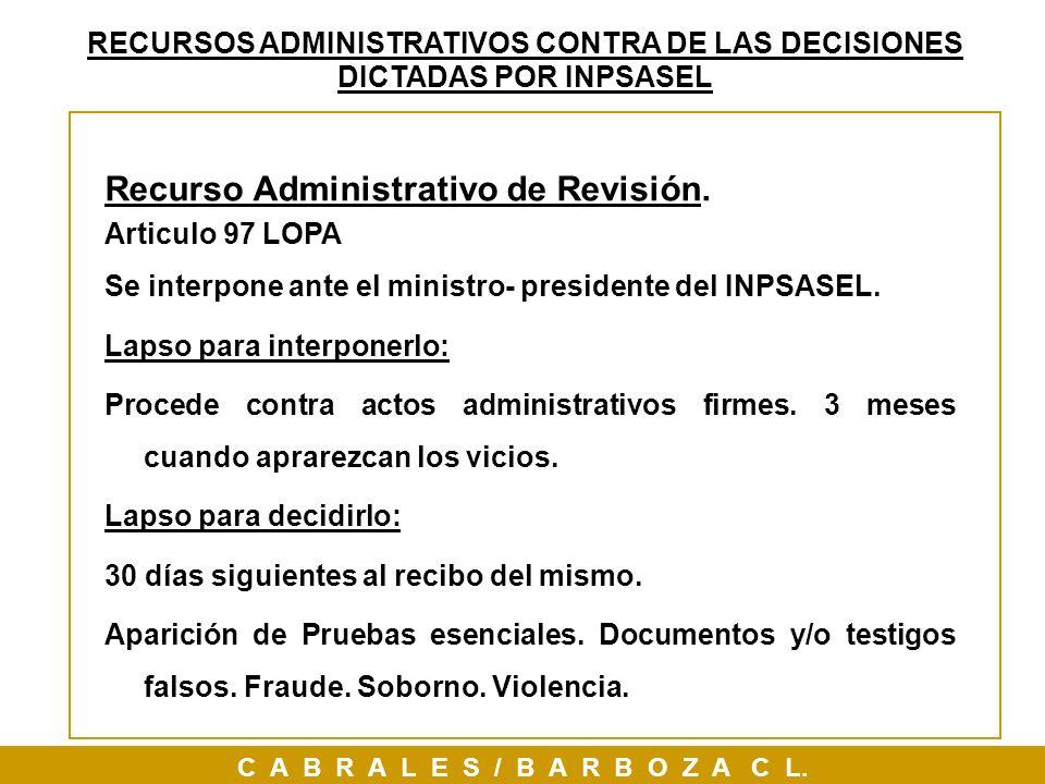 Recurso Administrativo de Revisión.