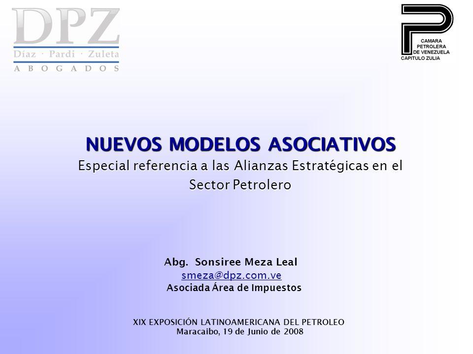 NUEVOS MODELOS ASOCIATIVOS XIX EXPOSICIÓN LATINOAMERICANA DEL PETROLEO