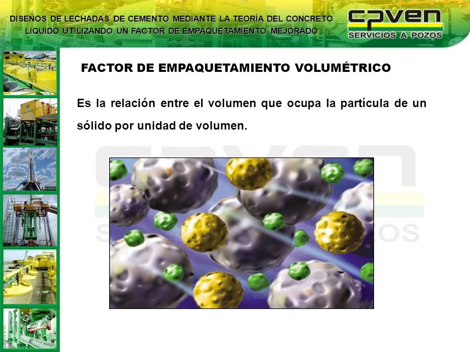 FACTOR DE EMPAQUETAMIENTO VOLUMÉTRICO