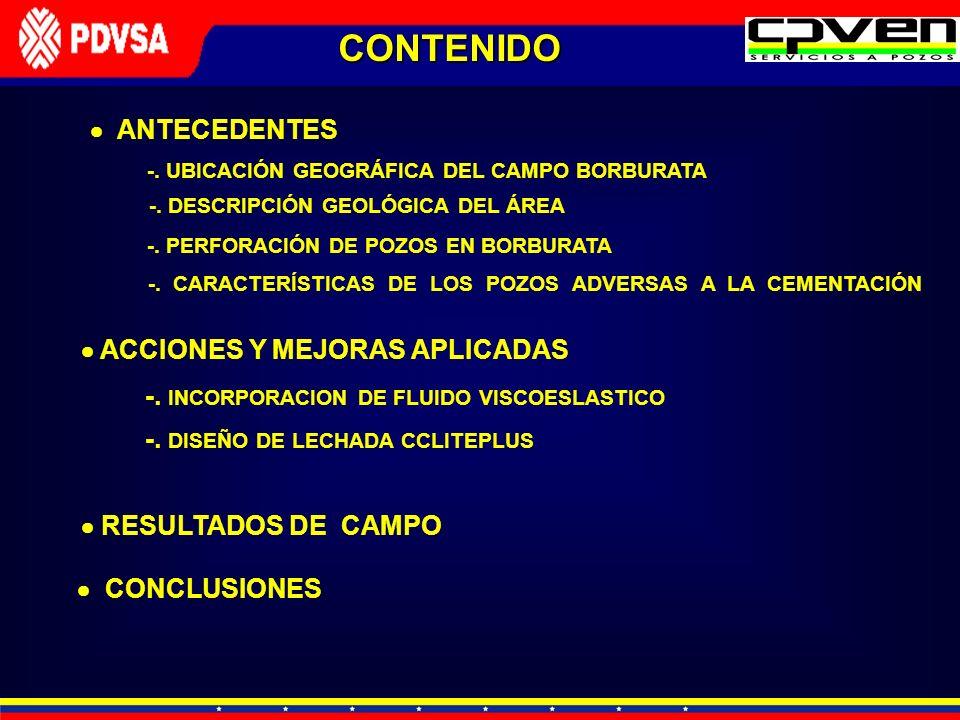 CONTENIDO  ANTECEDENTES  ACCIONES Y MEJORAS APLICADAS