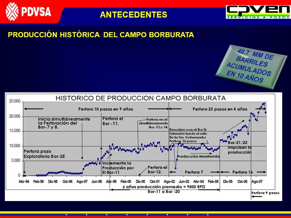 40.7 MM DE BARRILES ACUMULADOS EN 10 AÑOS