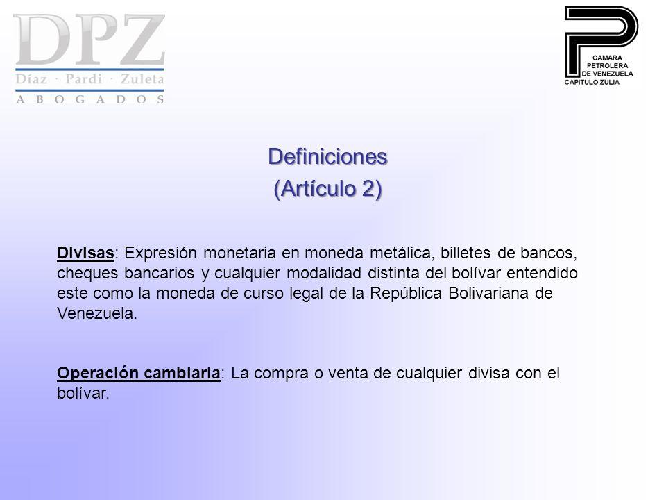 Definiciones (Artículo 2)