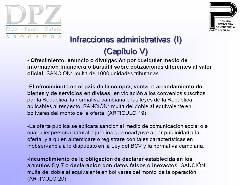 Infracciones administrativas (I)