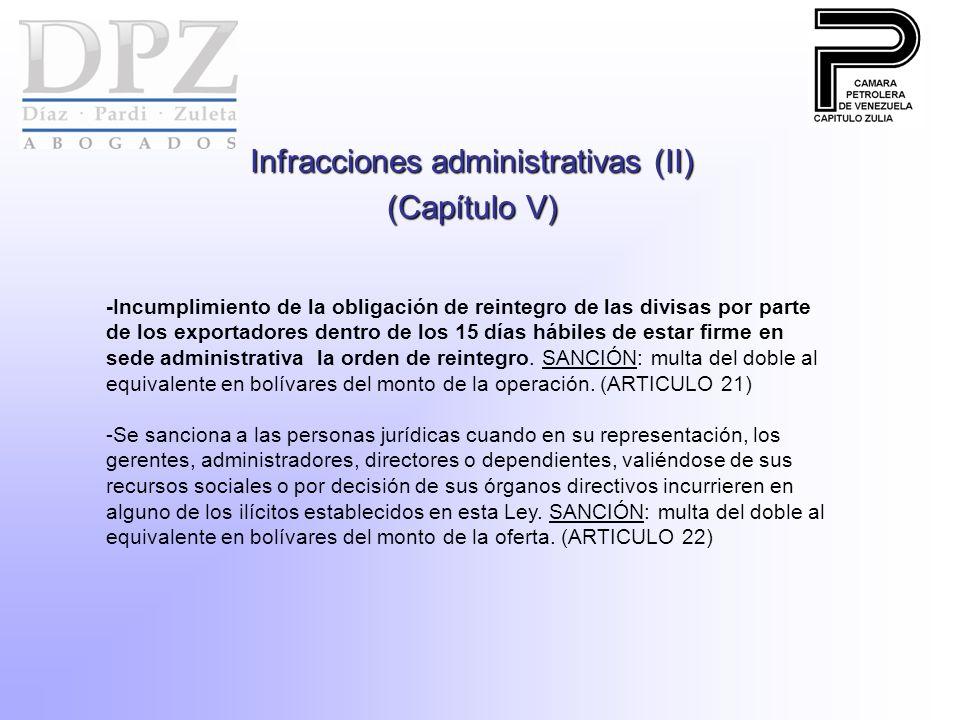Infracciones administrativas (II)