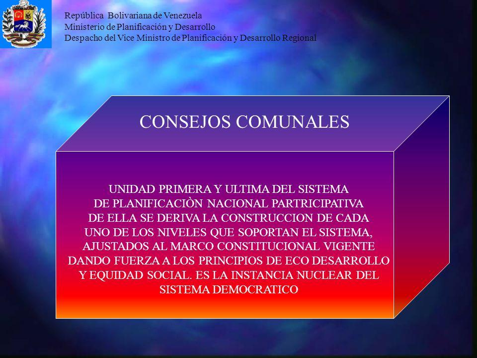 CONSEJOS COMUNALES UNIDAD PRIMERA Y ULTIMA DEL SISTEMA