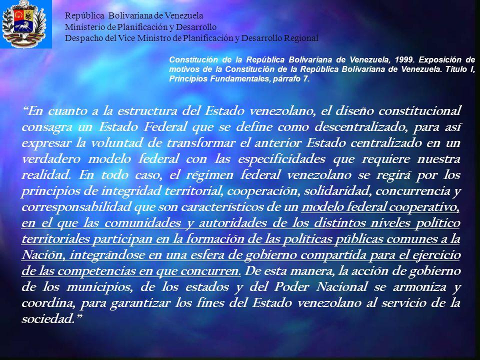 Constitución de la República Bolivariana de Venezuela, 1999