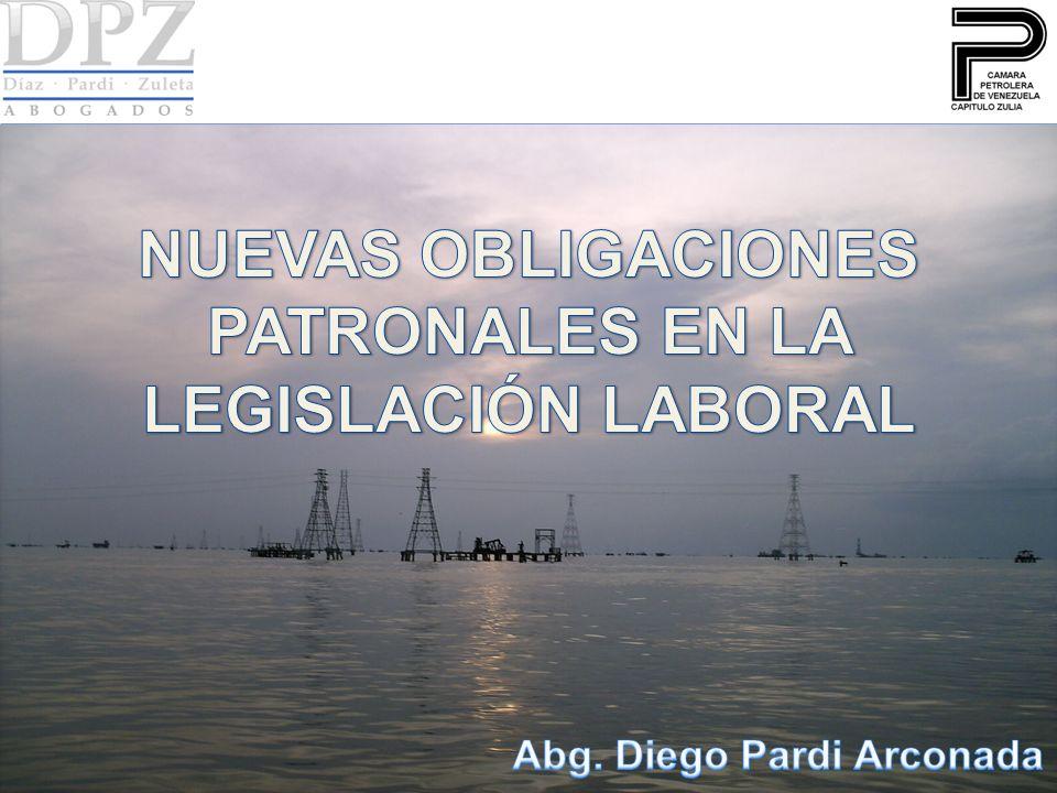 NUEVAS OBLIGACIONES PATRONALES EN LA LEGISLACIÓN LABORAL