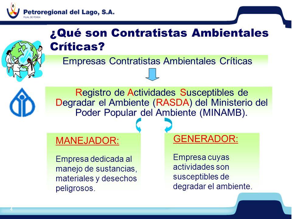 ¿Qué son Contratistas Ambientales Críticas