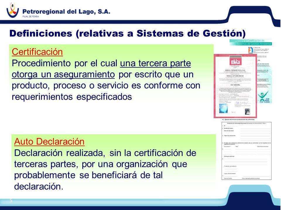 Definiciones (relativas a Sistemas de Gestión)