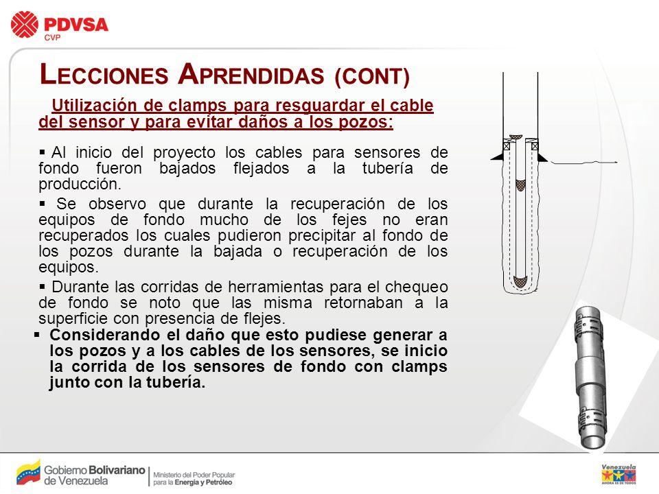 LECCIONES APRENDIDAS (CONT)