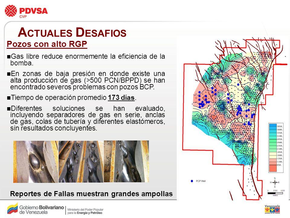 ACTUALES DESAFIOS Pozos con alto RGP