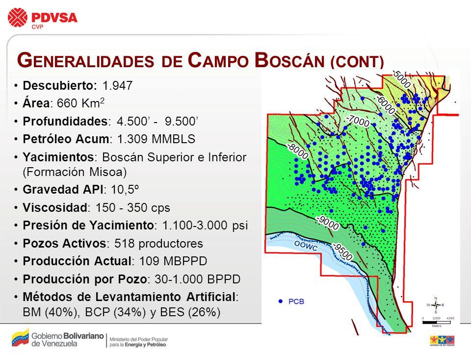 GENERALIDADES DE CAMPO BOSCÁN (CONT)
