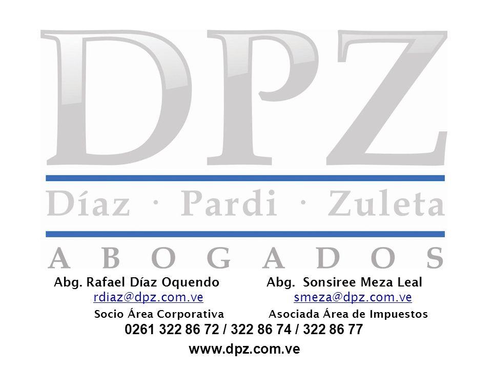 Abg. Rafael Díaz Oquendo Abg. Sonsiree Meza Leal