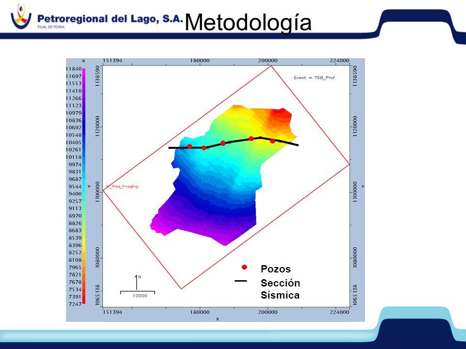 Metodología Metodología Pozos Sección Sísmica