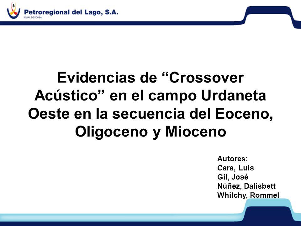 Evidencias de Crossover Acústico en el campo Urdaneta Oeste en la secuencia del Eoceno, Oligoceno y Mioceno