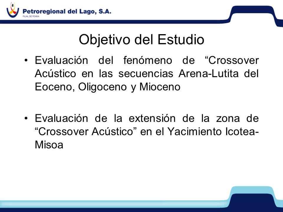 Objetivo del Estudio Evaluación del fenómeno de Crossover Acústico en las secuencias Arena-Lutita del Eoceno, Oligoceno y Mioceno.