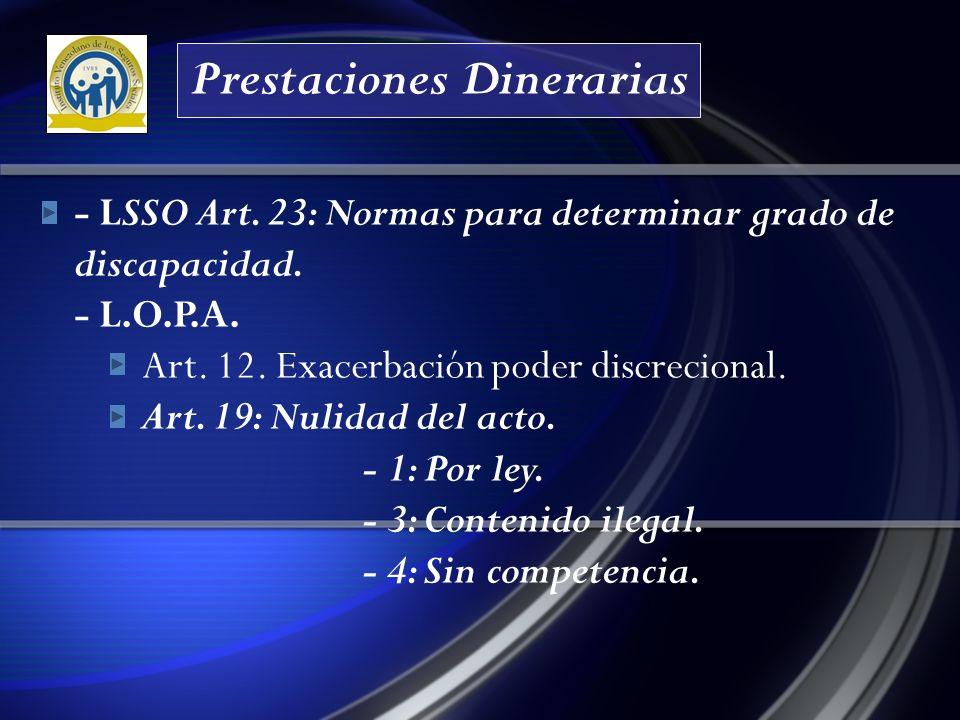 Prestaciones Dinerarias