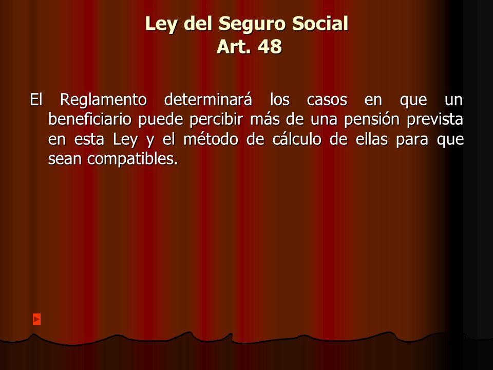 Ley del Seguro Social Art. 48