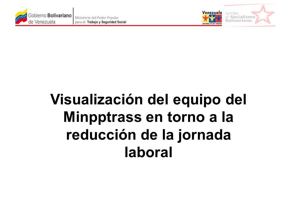 Visualización del equipo del Minpptrass en torno a la reducción de la jornada laboral