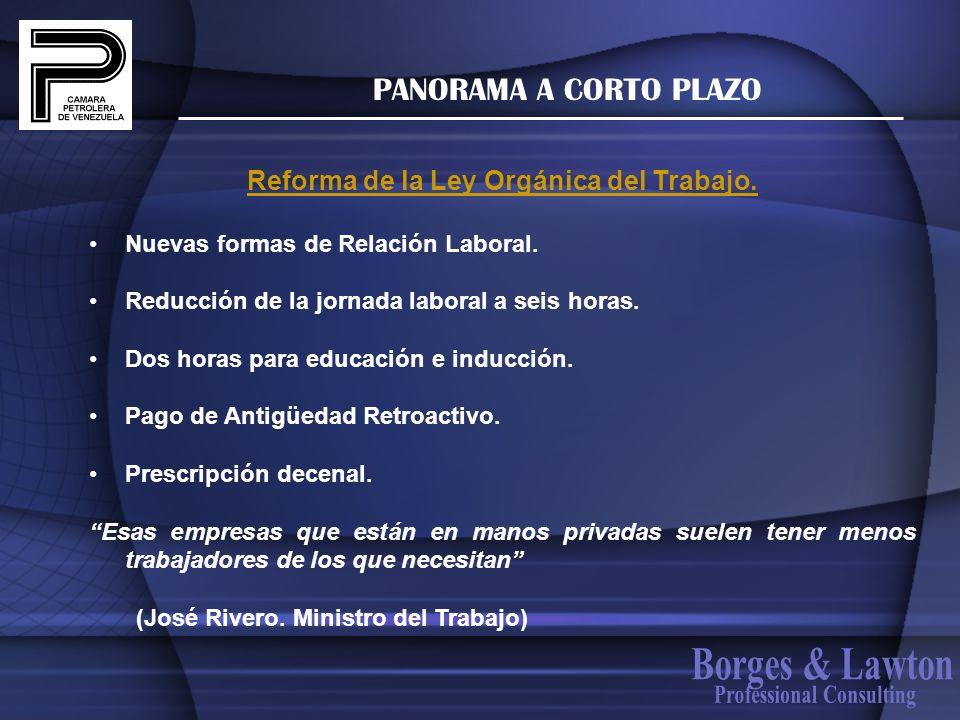 Reforma de la Ley Orgánica del Trabajo. Professional Consulting
