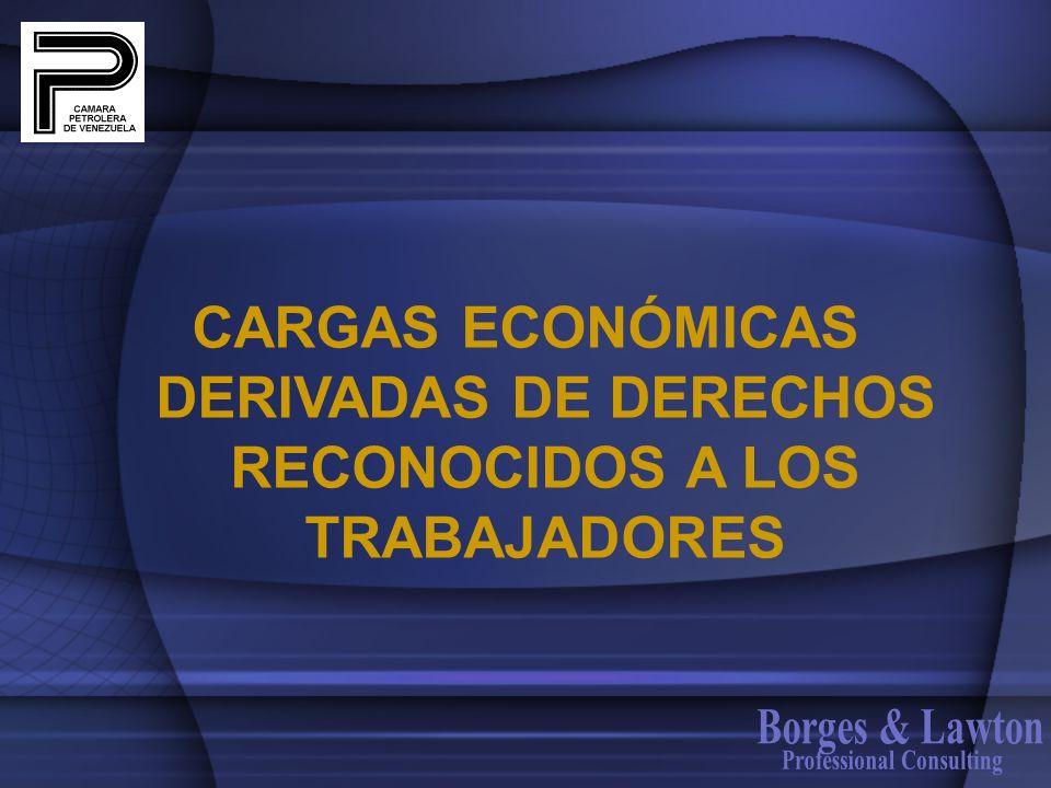 CARGAS ECONÓMICAS DERIVADAS DE DERECHOS RECONOCIDOS A LOS TRABAJADORES