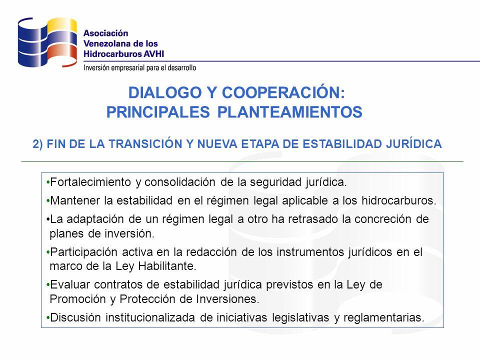 DIALOGO Y COOPERACIÓN: PRINCIPALES PLANTEAMIENTOS