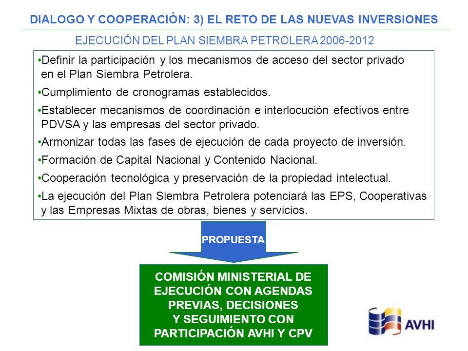 DIALOGO Y COOPERACIÓN: 3) EL RETO DE LAS NUEVAS INVERSIONES