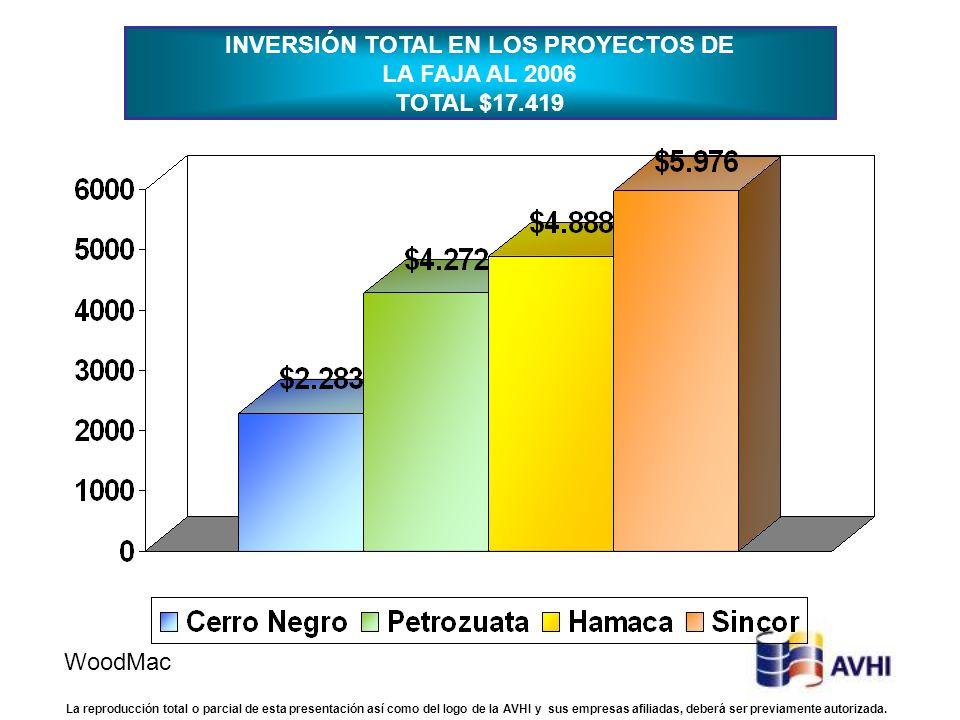 INVERSIÓN TOTAL EN LOS PROYECTOS DE