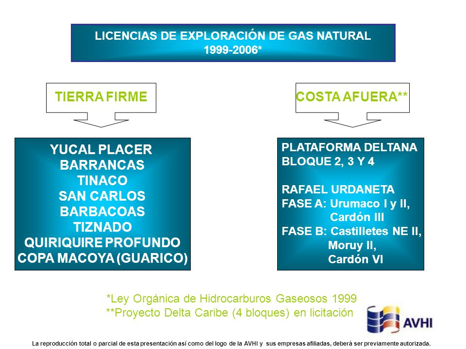 LICENCIAS DE EXPLORACIÓN DE GAS NATURAL
