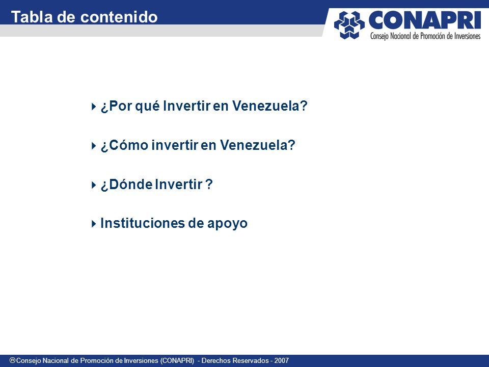 Tabla de contenido ¿Por qué Invertir en Venezuela