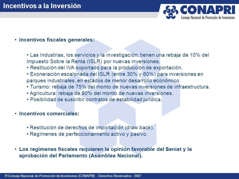 Incentivos a la Inversión