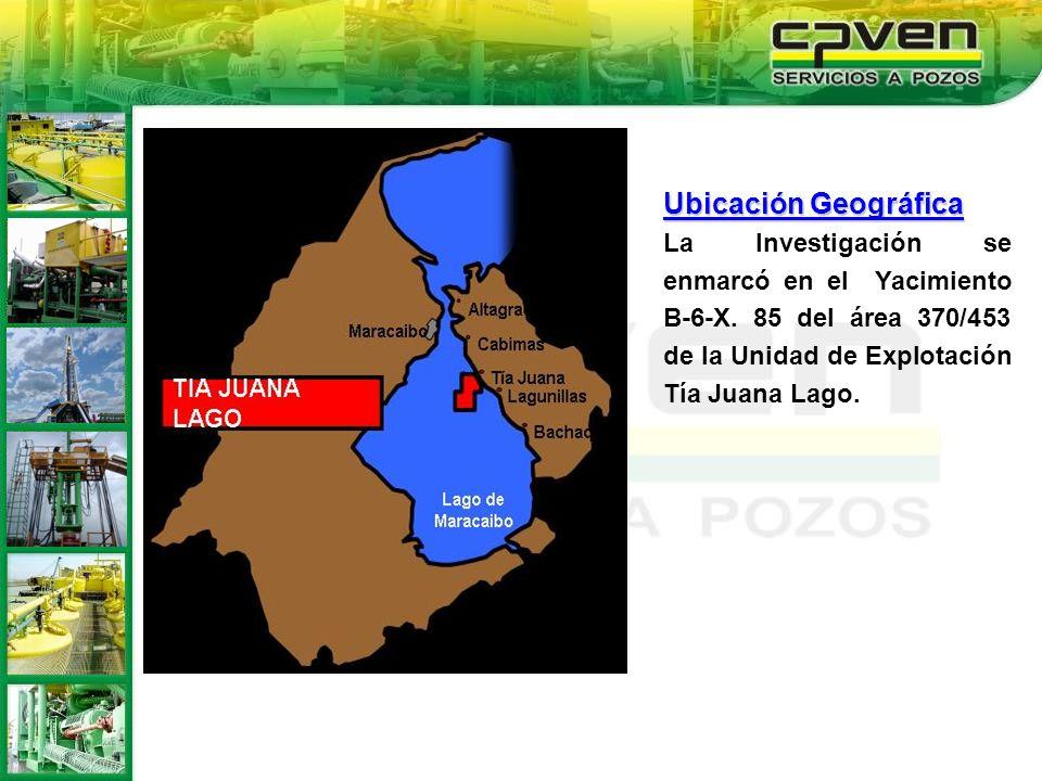 Ubicación GeográficaLa Investigación se enmarcó en el Yacimiento B-6-X.